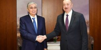 Azərbaycan Respublikasının Prezidenti İlham Əliyev və Qazaxıstan Respublikasının Prezidenti Kasım-Jomart Tokayev