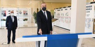 """Prezident İlham Əliyev 110/35/6 kilovoltluq """"Binəqədi"""" yarımstansiyasının açılışını edib"""