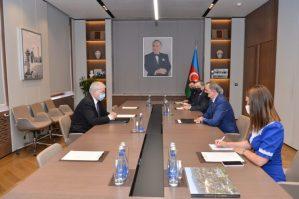 Ceyhun Bayramov Minsk Qrupunun Rusiyadan olan yeni həmsədri ilə görüşüb