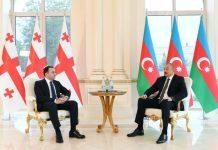 Azərbaycan Respublikasının Prezidenti İlham Əliyev və Gürcüstanın Baş naziri İrakli Qaribaşvili