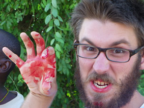 Blood tasting by Roy.