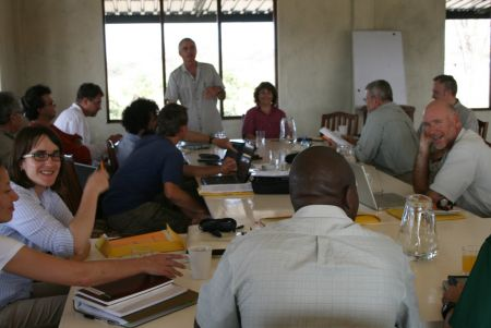 Workshop participants gathered at TBI's Turkwel facility, on the west side of Lake Turkana.