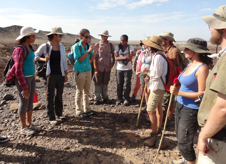 GEO303 – Andrea explains recent work at a pillar-cairn site at Lothagam.