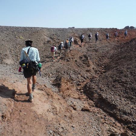 Heading over the west ridge.