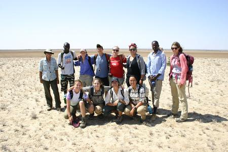 Group pic at Aiyangiyang Basin during the Geology module.