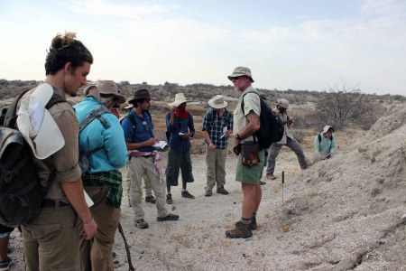 Prof. Feibel shows the TBI students the Galanaboi member.