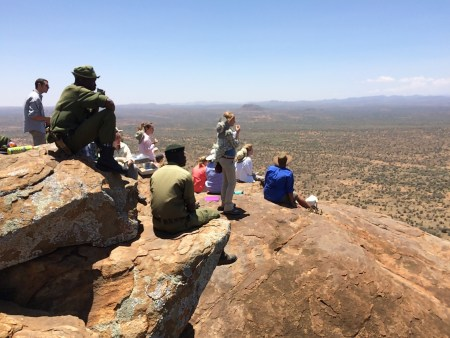 Students enjoying the view as Dr. Martins ...