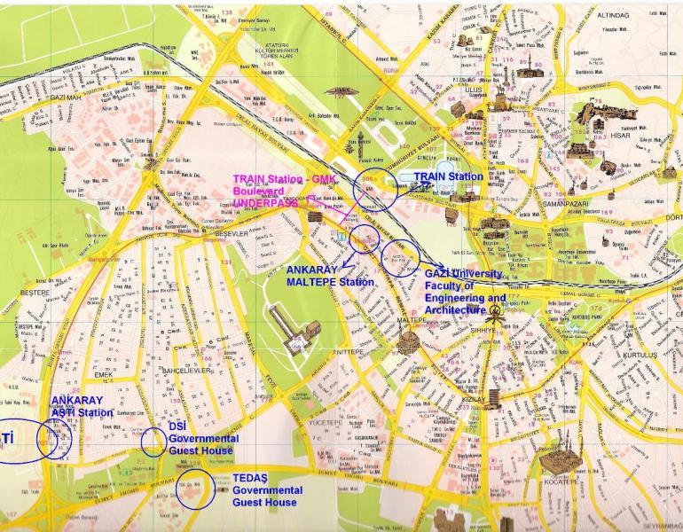 Карта центра Анкары