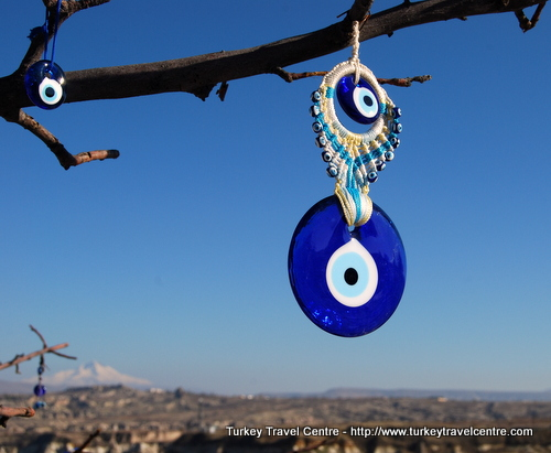 blue evil eye in Turkey