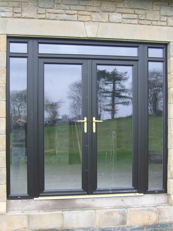 black patio door turkington windows