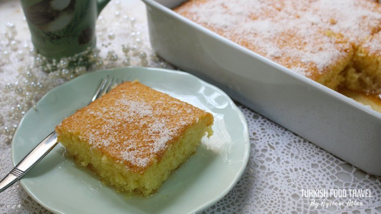 Fluffy Turkish Cake Revani With Syrup