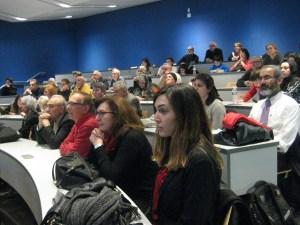 Çanakkale - Gelibolu anma programını John Jay College - New York'ta ilgiyle izleyen bir grup dinleyici - 21 Mart 2015 - Fotoğraf: Lightmillennium.Org