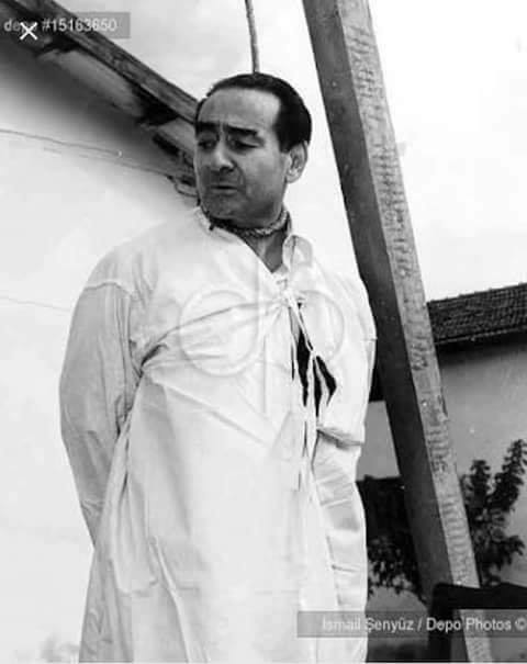 Adnan Menderes idam sehpasında