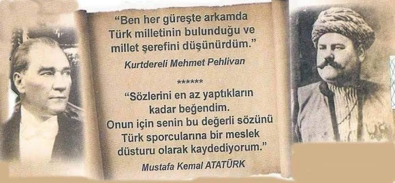 Kurtdereli Mehmet Pehlivan ve Atatürk