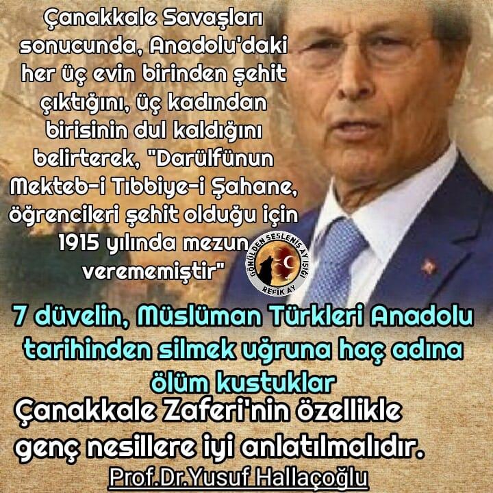 Yusuf Hallaçoğlu Çanakkale 15li türküsü