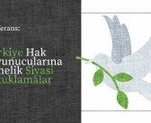 Konferans: Türkiye Hak Savunucularına Yönelik Siyasi Tutuklamalar ve İHAS 18. Madde