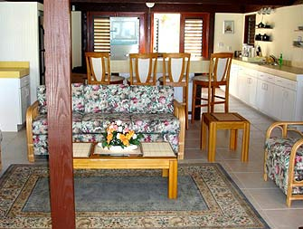Whitby Beach Cottage Living Room and Kitchen Area