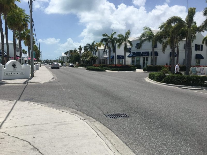 The Salt Mills shopping area in Providenciales, Turks and Caicos