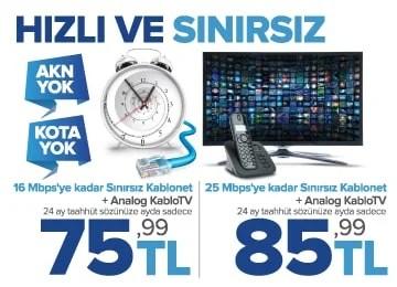 kablonet hızlı internet kampanyası