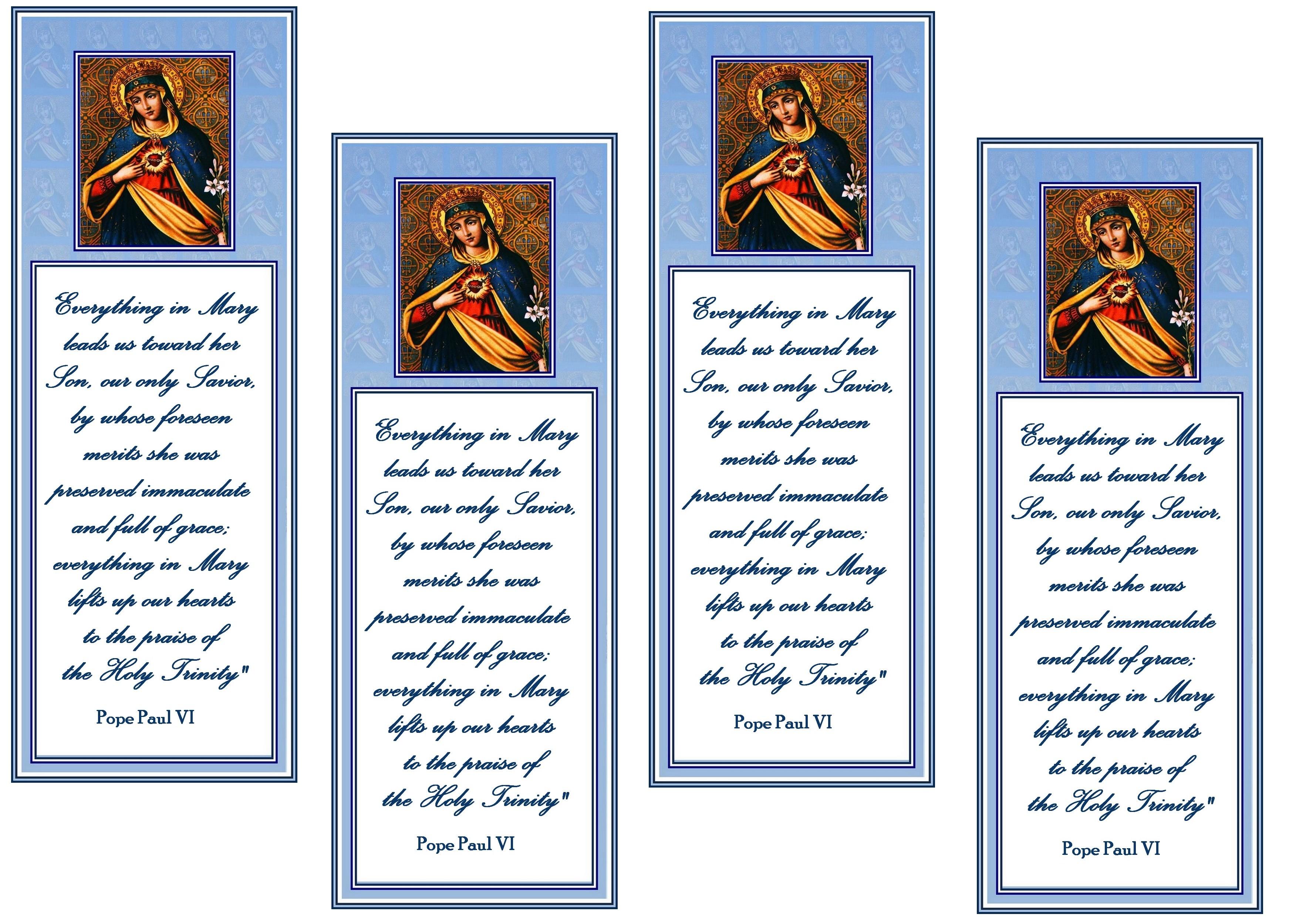 Catholic Prayer Cards
