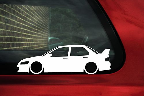 2x LOW Mitsubishi Lancer Evo 7 8 9 Evolution Outline