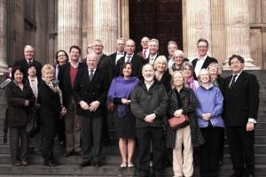 SOCIAL - WCT outside St Pauls after Roman walk (Stuart King)