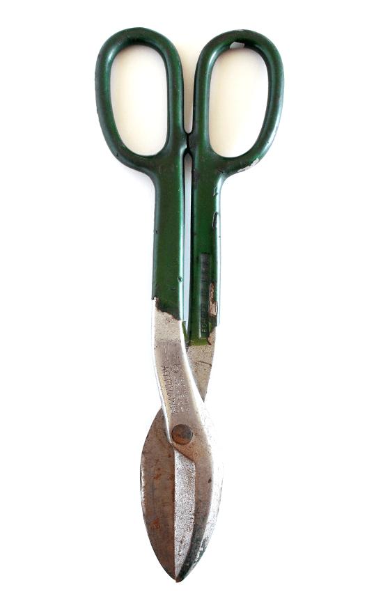 vintage tin snips