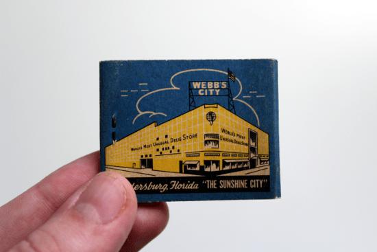 Webb's City Matchbook Back
