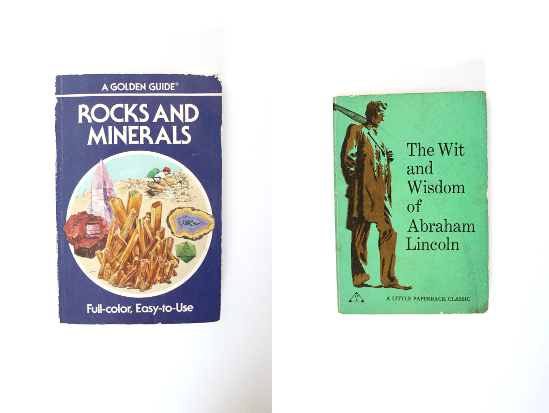 golden guide to rocks and minerals, wit and wisdom of abraham lincoln