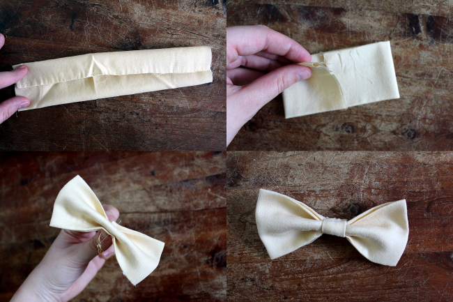 Bow Ties Steps 1 through 7