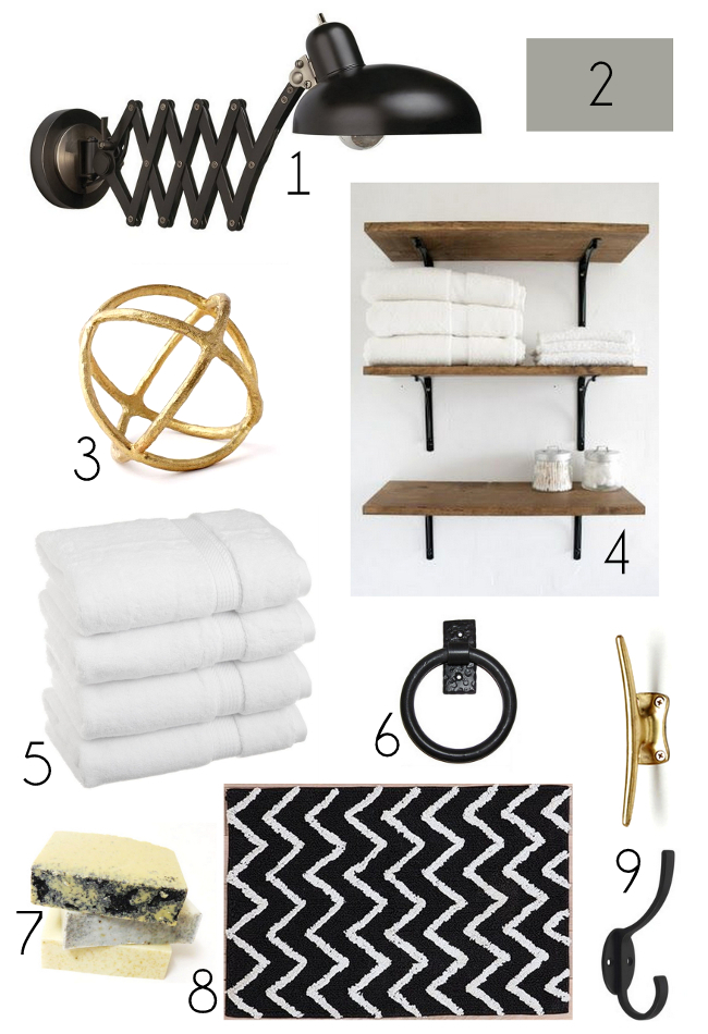 Style Cure: Bathroom Mood Board