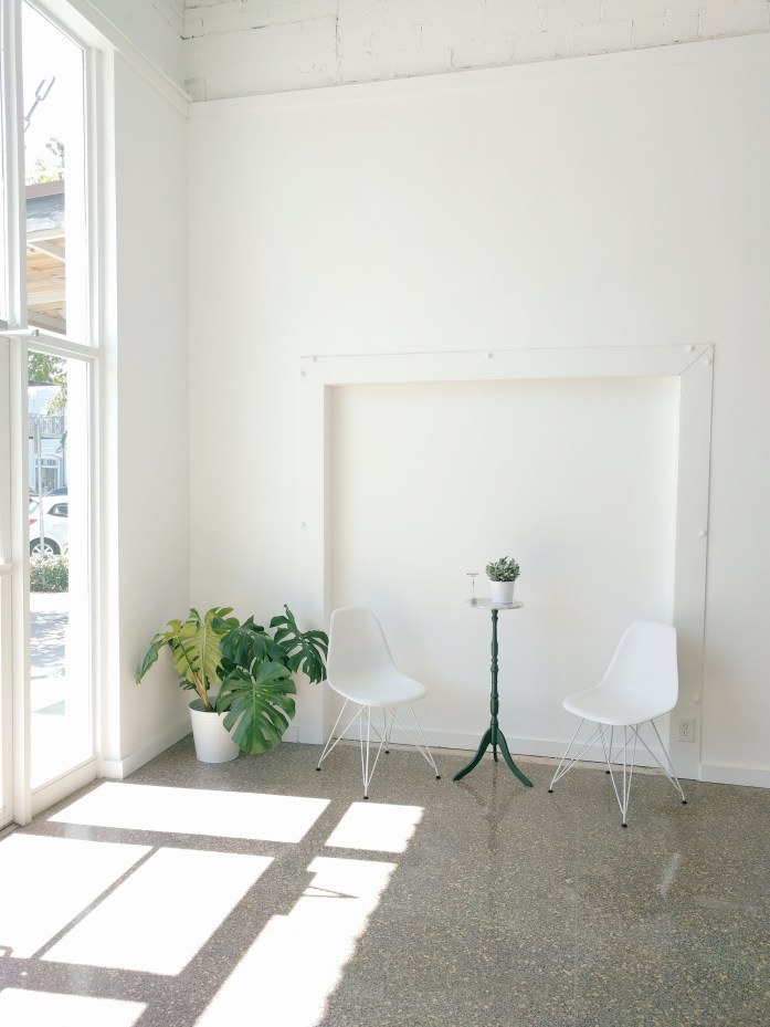 minimal decor, indoor plant, eames chair