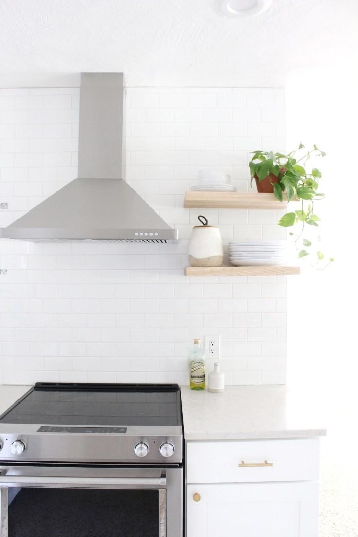 Installing Floating Shelves in Kitchen