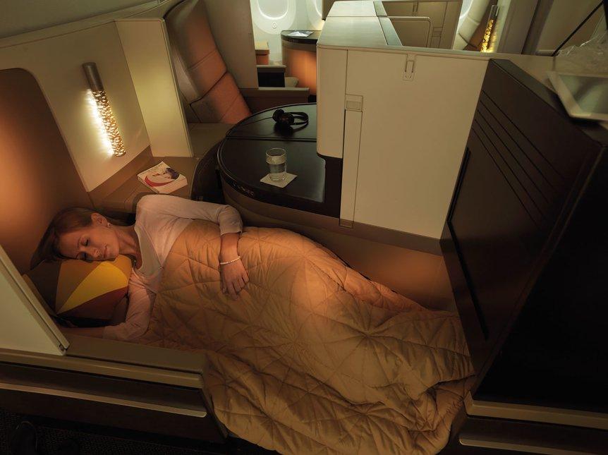 Etihad business class studio A380 review