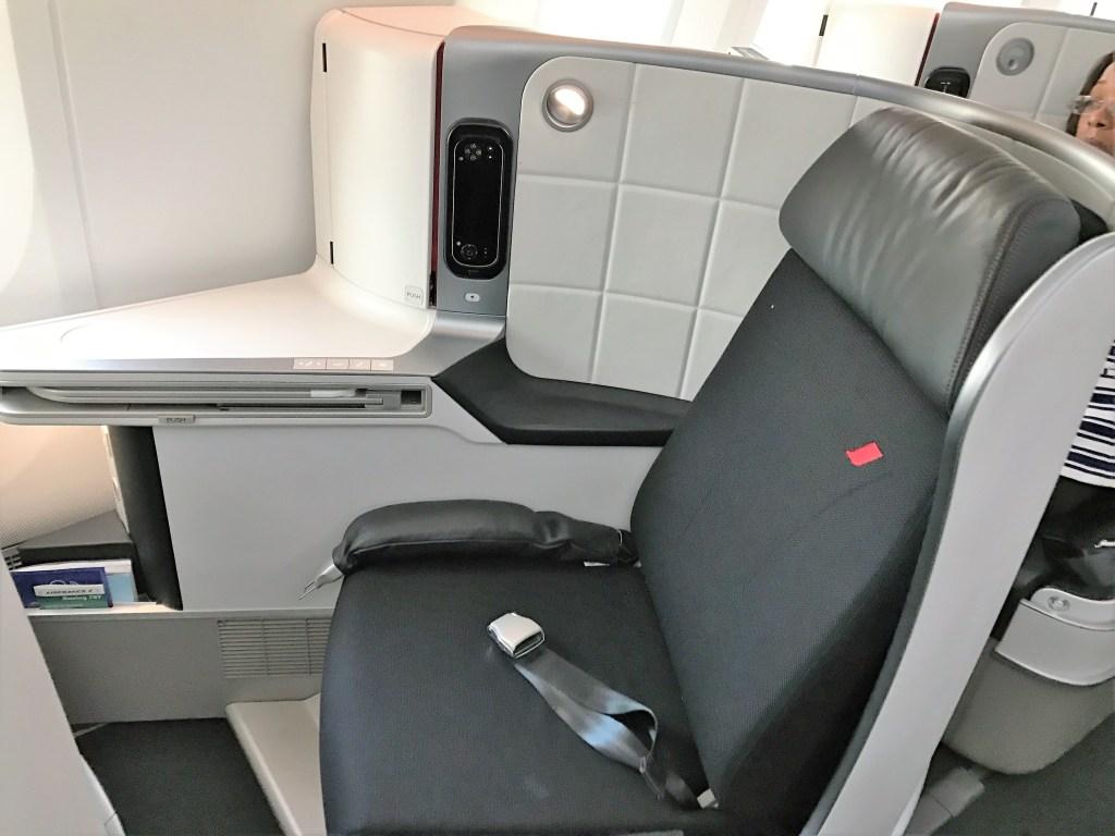 air france B787 dreamliner business class review