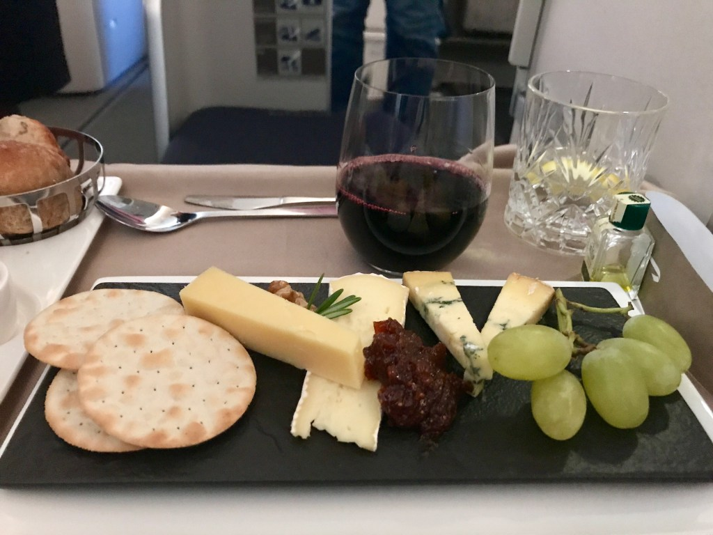 British Airways new Club World catering service review