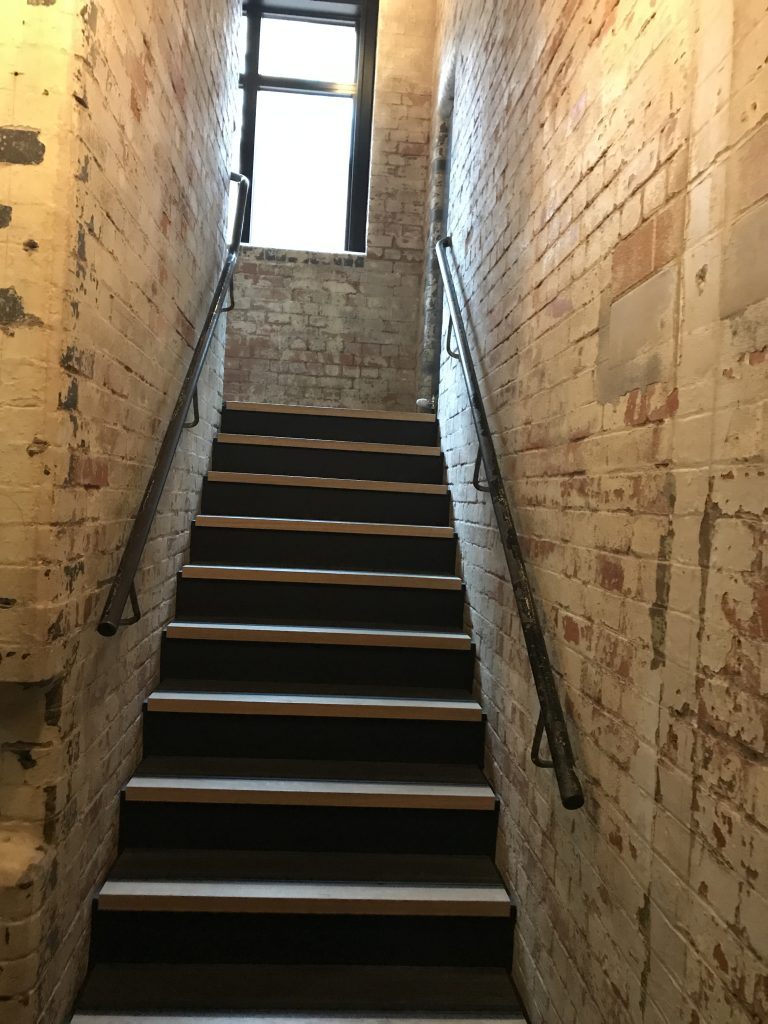 The Mandrake, Fitzrovia London review stairwell