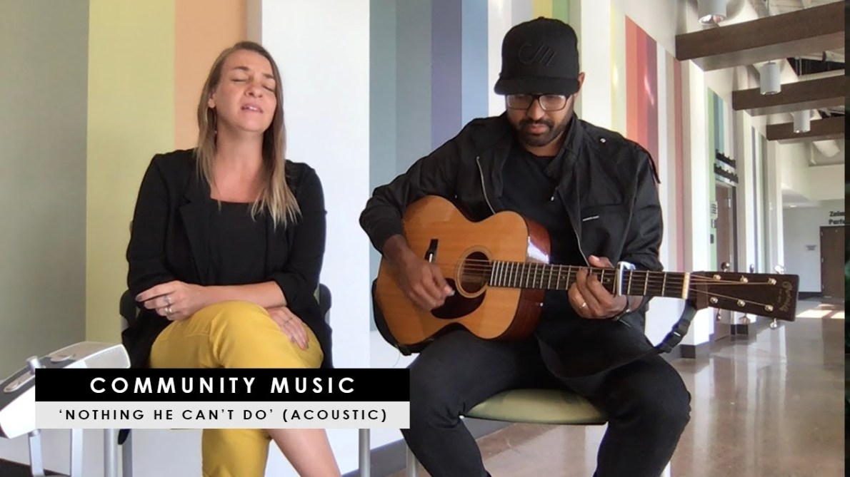 "Community Music – ""Nothing He Can't Do"" (CCMMagazine.com acoustic performance)"