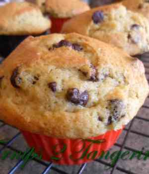 Banana Chocolate Chip Sourdough Muffins