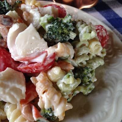 Seafood Pasta Salad Turnips 2 Tangerines