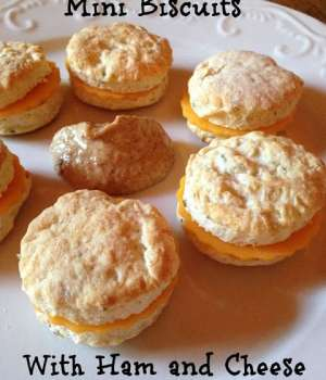 Mini Biscuits with Ham and Cheese