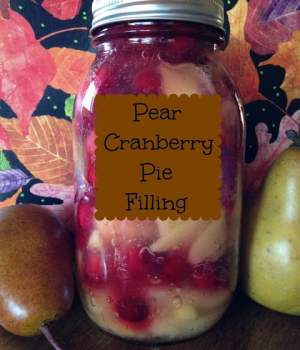 Pear Cranberry Pie Filling