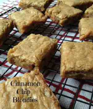 Cinnamon Chip No-Fail Blondies