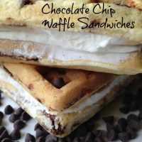 Chocolate Chip Waffle Ice Cream Sandwiches #SundaySupper