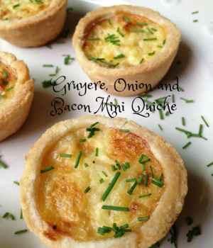 Gruyere, Onion and Bacon Mini Quiche