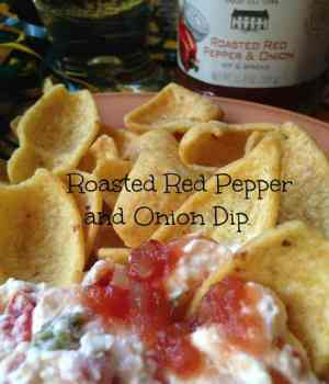 Roasted Red Pepper and Onion Relish  Dip