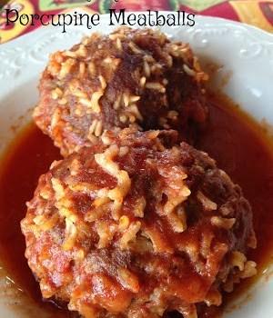 Old Fashioned Porcupine Meatballs #SundaySupper