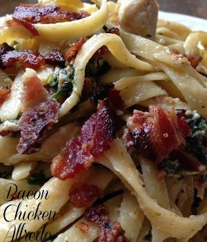 Bacon Chicken Alfredo