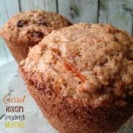 Carrot Raisin Sourdough Muffins