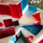 Red, White and Blue Broken Glass Jell-o #SundaySupper